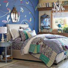 girls bedroom ideas blue. Royal Blue Is The Perfect Paint Color For A Teenage Girls Bedroom With Some Murals And Vintage Furnishing Ideas