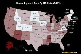 Unemployment Rate By Us State From 2011 To 2019 Tony Mapped It