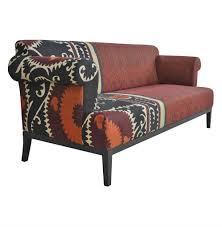 Paisley Sofa vintage suzani red paisley global bazaar sofa kathy kuo home 1552 by uwakikaiketsu.us