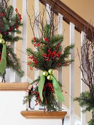 ... try these greenery bunches. Here, natural birch branches are used, but  other branches would work equally well. Matte or glossy ornaments will add  a pop ...