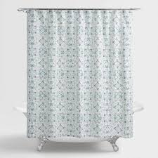 gray and blue shower curtain. blue and aqua carissa shower curtain gray