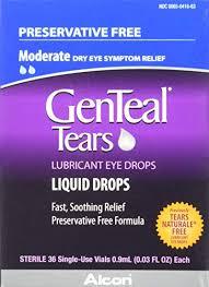 genteal tears lubricant eye drops moderate liquid drops 36 sterile single use