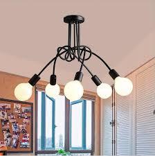 description simple iron chandeliers