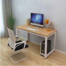 wooden home office. Dripex Modern Simple Style Steel Frame Wooden Home Office Table - Computer PC Laptop Desk Study