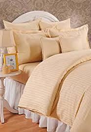 Buy Lorena Hilton Beige Cotton Double Bedsheet With 2 Pilow Cover ...