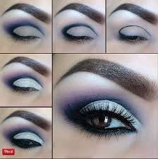 blue and purple smokey eye makeup tutorial