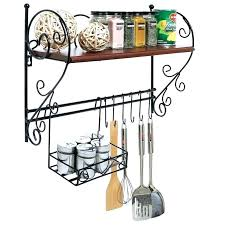 shocking metal wall basket with hooks kitchen wall shelf with hanging basket hooks curved