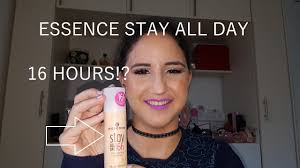 essence stay all day 16 hour foundation put to the test normal dry skin review ariella s makeup
