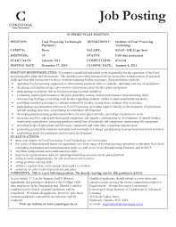 Enchanting Food Technologist Curriculum Vitae Component Resume