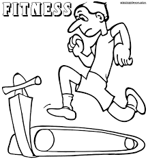 Small Picture Coloring Fitness Coloring Pages