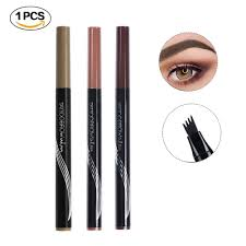 Turelifes Tattoo Eyebrow Pen With Four Tips Long Lasting Waterproof Brow Gel For Eyes Makeup Black