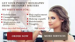makeup artist bio good executive istant biography sles