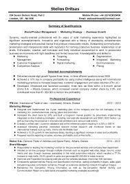 Marketing Manager Resume Summary Cv Brand Product Marketing