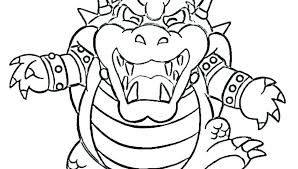 Super Mario Bowser Coloring Pages To Print Jr Fascinating Download