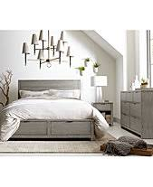 Modern bedroom furniture with storage Trendy Tribeca Grey Storage Platform Bedroom Furniture Collection Created For Macys Jivebike Modern Bedroom Collections Macys