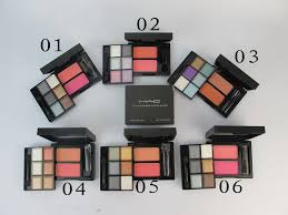 mac eyeshadow 6 colors 2 colors blusher