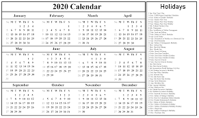 Printable Calendars 2020 With Holidays Download Free Printable Malaysia Calendar 2020 In Pdf Excel