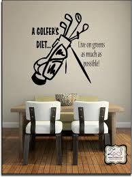 golf cute golf wall decor