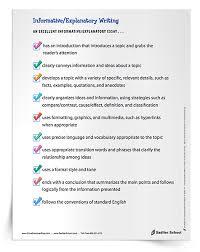 Explanatory Essay Format Informative Explanatory Writing In The Classroom Grades 3 12