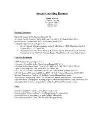 Resume Soccer Coach Resume Template New Coaching Sample Fresh Temp Custom Soccer Coach Resume