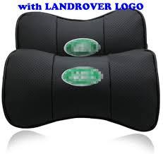 2 X Genuine Leather Car Headrest Pillow Neck Rest Pillow Seat