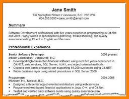 Professional Summary Resume Example Free Resume Templates 2018