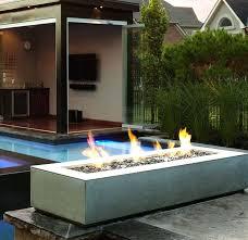 modern patio fire pit. Modern Outdoor Fire Pit Garden And Lawn Rectangular Patio