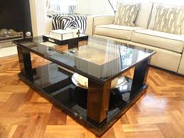 rectangle glass luxury coffee table on top sofa white contemporary modern stained varnished bamboo floorings
