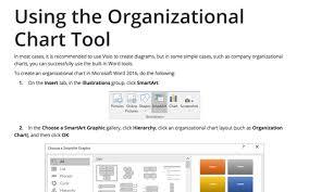 Smart Organizational Chart Modifying An Organizational Chart Microsoft Word 2016