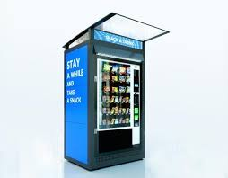 Outdoor Vending Machine Custom Outdoor Vending System Single Unit For Snack Machine Protection