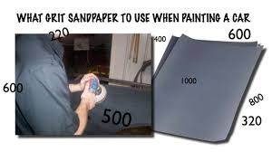 Automotive Sandpaper Grit Chart Sand A Car For Paint What Grit Of Sandpaper To Use When Blocking And Final Sanding
