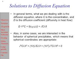 solutions to diffusion equation