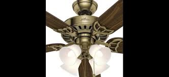 hunter brass ceiling fans. Contemporary Fans Hunter 53063 The Studio Series 52 Inch Antique Brass Ceiling Fan With 5  WalnutMedium Oak Blades To Fans E
