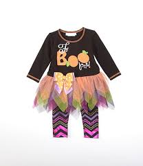 Bonnie Jean Baby Girls Newborn 24 Months Halloween Faboolous Tutu Dress Chevron Leggings Set