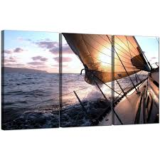 display gallery item 5 set of three seascape canvas prints uk sailing boat 3096 display gallery item 6 on boat canvas wall art with cheap sailing boat canvas prints set of three for your living room