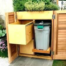 garbage can storage plans outdoor trash shed bin wooden garbag
