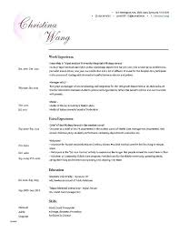 Targeted Resume Template Targeted Resume Template Digital Marketing