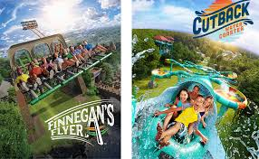 busch gardens will unveil a screamin swing ride called finnegan s flyer and their water country usa waterpark will debut cutback water coaster virginia s
