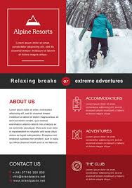 Downloadable Poster Templates Free Alpine Resorts Business Flyer Template Download For Photoshop