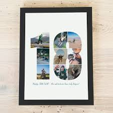 18 year photo personalised poster