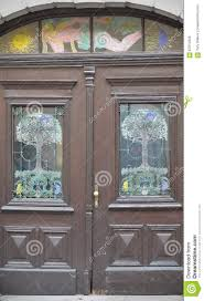 Alte Türen Griffe Verschlüsse Gitter Und Fenster Stockbild Bild