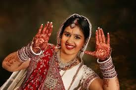 gujarati indian wedding bridal makeup and hair style