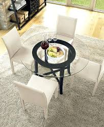 modern round glass dining table modern glass dining room table and chairs