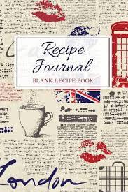 Recipe Journal Blank Recipe Book Personalized Recipe Book Empty