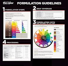 Color Formulation Chart Paul Mitchell The Color Formulation Guidelines Hair Color