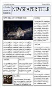 Custom Newspaper Template Wonderful Free Templates To Create Newspapers For Your Class
