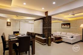 Living and dining area furnishing in Kerala