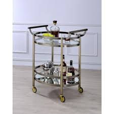 clear glass furniture. Acme Furniture Lakelyn Clear Glass And Gold Serving Cart