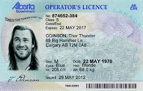 Fake Alberta Operator's ab Best - Idviking Licence Id Ids Scannable