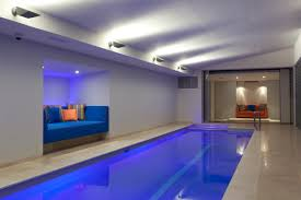 Indoor Outdoor Pool Residential The Ultimate Luxury A Sunset Indoor Lap Pool And Spa Sunset